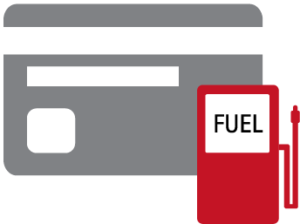 Image of credit card with fuel tank